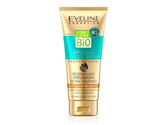 Eveline cosmetics I´m BIO Argan & Coconut Oil Regenerační krém-maska na ruce a nehty 100 ml | evelio.cz