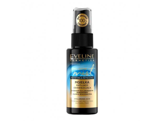 Eveline cosmetics Long-lasting Mist fixační a osvěžující pleťová mlha bio kokos 50 ml | evelio.cz