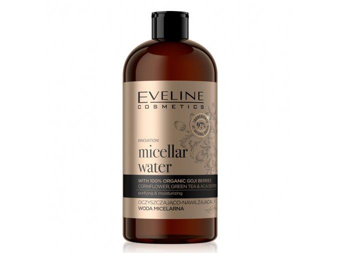 Eveline cosmetics ORGANIC GOLD Čistící - hydratační micelární voda 500 ml | evelio.cz