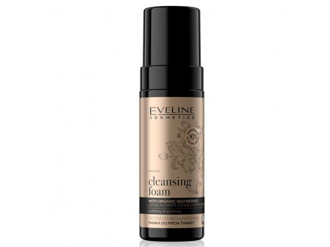 Eveline cosmetics ORGANIC GOLD Čisticí - hydratační pěna na tvář 150 ml   evelio.cz