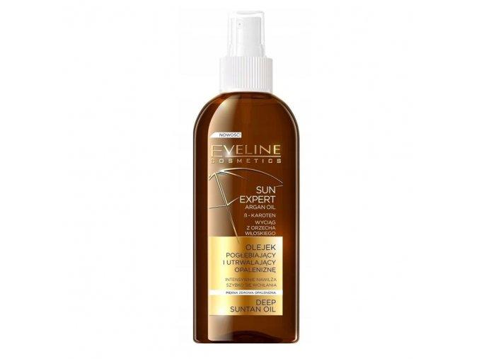 Eveline cosmetics SUN EXPERT Olej podporující opálení s aganovým olejem 150 ml   evelio.cz