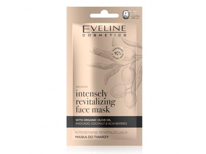 Eveline cosmetics ORGANIC GOLD intenzivně revitalizační pleťová maska 8 ml