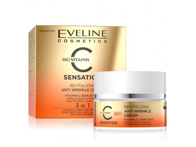 Eveline cosmetics C SENSATION 40+ revitalizační pleťový krém s vitamínem C 50 ml | evelio.cz