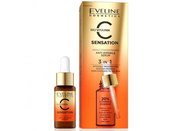 Eveline cosmetics C SENSATION vysoce koncentrované omlazující sérum proti vráskám 18 ml | evelio.cz