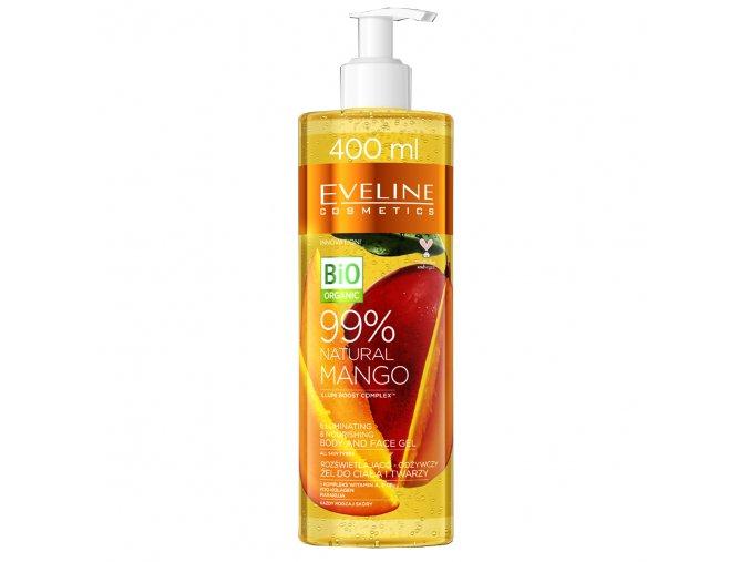 Eveline cosmetics Natural Mango Rozjasňující-výživný gel na tvář i tělo 400 ml   evelio.cz