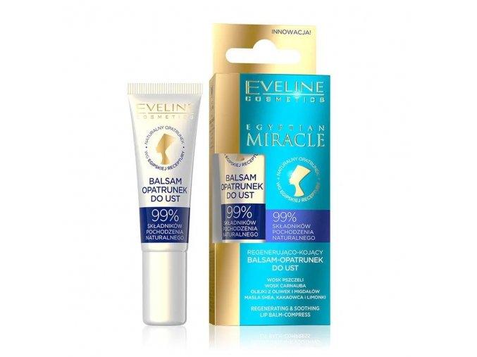 Eveline cosmetics Egyptian Miracle Regenerační a uklidňující balzám na rty 12 ml | evelio.cz