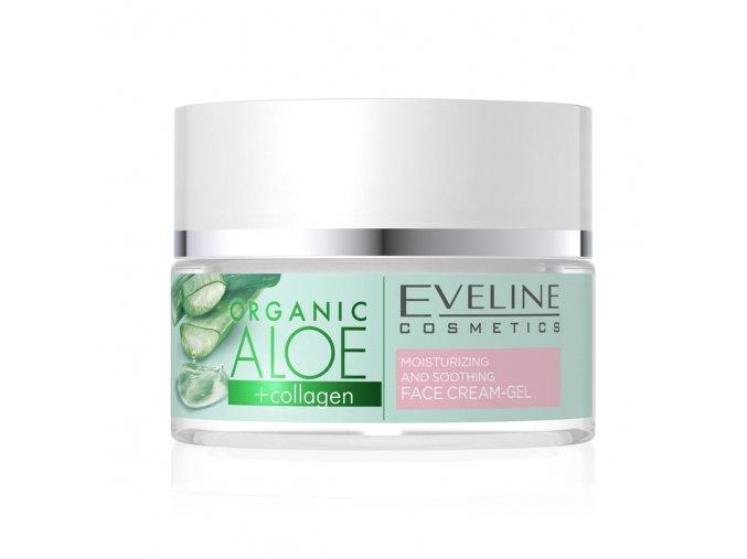 Eveline cosmetics ALOE + COLLAGEN hydratační a zklidňující pleťový krém - gel 50 ml | evelio.cz