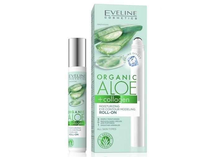 Eveline cosmetics ALOE + COLLAGEN hydratační roll-on s modelujícím účinkem očních kontur 15 ml | evelio.cz