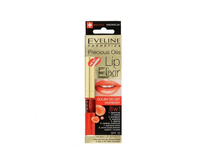 Olej na rty 8 v 1 malina Lip ELIXIR