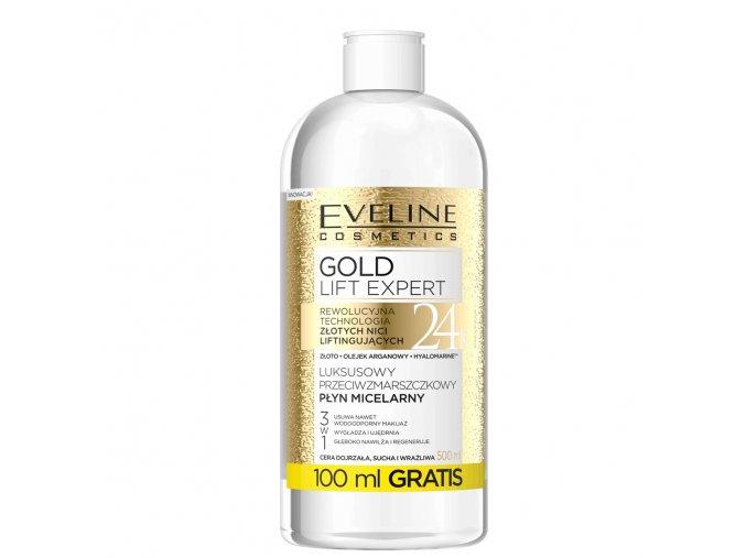 Protivrásková micelární voda 3 v 1 GOLD LIFT EXPERT