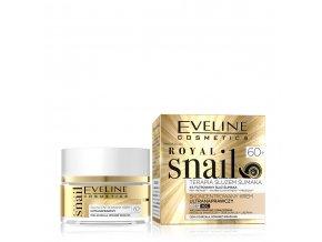 Eveline cosmetics Royal snail 60+, pleťový krém s hlemýždím slizem | evelio.cz