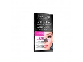 Eveline cosmetics Charcoal plátky na nos | evelio.cz