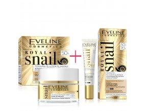 Eveline cosmetics Royal snail Pleťový krém a oční krém 50+ | evelio.cz