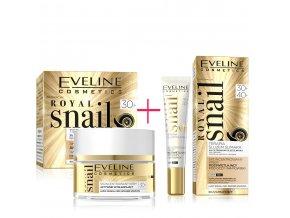 Eveline cosmetics Royal snail Pleťový krém a oční krém 30+, pěstící krémy s hydratačním účinkem | evelio.cz
