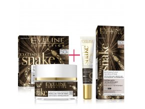 Eveline cosmetics Exclusive snake Pleťový krém a oční krém 50+ | hadí jed | evelio.cz
