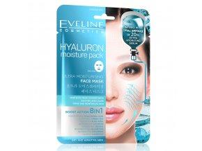 Eveline cosmetics Hyaluron Boost action, hydratační maska | evelio.cz