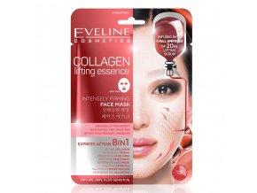 Eveline cosmetics collagen, textilní pleťová maska| evelio.cz