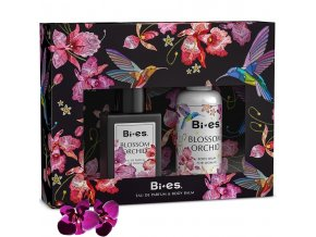 Bi es blossom Orchid Women, dárková kazeta, parfém + tělové mléko | evelio.cz