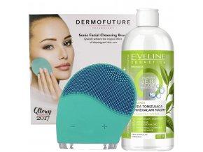 Dermofuture sonický čistič pleti + ZDARMA matující pleťová voda Eveline cosmetics| evelio.cz