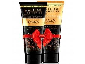 Eveline cosmetics Spa professional Káva tělový peeling + tělový balzám | evelio.cz
