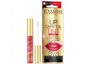 Eveline cosmetics Tint care Olej na rty RED HOT | evelio.cz