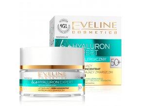 Eveline cosmetics bio Hyaluron Expert Pleťový krém 50+ | evelio.cz