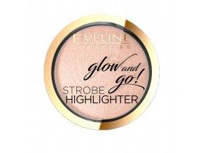 Eveline cosmetics Strobe Highlighter Glow and go, odstín 01 | evelio.cz