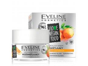Eveline cosmetics I love vegan food Rozjasňující pleťový krém | evelio.cz
