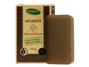 Kappus Natural Soap Přírodní čisticí mýdlo s vulkanickým bahnem 100 g | evelio.cz