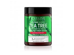 Eveline cosmetics Botanic Expert Tea Tree Matující krém-detox antibakteriální 100 ml | evelio.cz