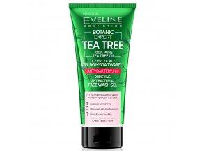 Eveline cosmetics Botanic Expert Tea Tree Anti-bakteriální čistící gel na tvář 3v1 175 ml | evelio.cz