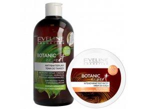 Eveline cosmetics Botanic Expert SADA Anti-bakteriální pleťové tonikum + výživný tělový krém | evelio.cz