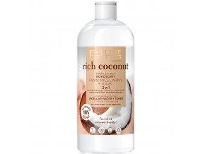Eveline cosmetics Rich Coconut Hydratačná micelárna voda + tonikum 2v1 500 ml | evelio.cz