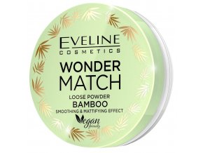 Eveline cosmetics WONDER MATCH vyhlazující a matující sypký pudr s bambusovým extraktem 6 g | evelio.cz