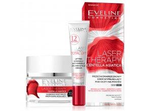 AKCE Eveline Laser Therapy Sada pleťový krém + oční krém 70+ | evelio.cz