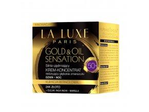 La Luxe Paris Gold & Oil Sensation Protivráskový zpevňující krém-koncentrát 50+ 50 ml | evelio.cz