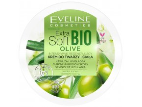 Eveline cosmetics Extra Soft BIO OLIVE Regenerační krém na tvář i tělo 200 ml | evelio.cz