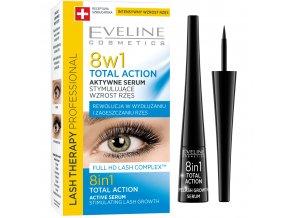 Eveline cosmetics TOTAL ACTION 8v1 sérum pro stimulaci růstu řas  | evelio.cz
