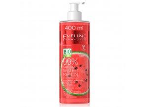Eveline cosmetics BIO ORGANIC VODNÍ MELOUN Hydratační a uklidňující hydrogel tělo/obličej 400 ml | evelio.cz