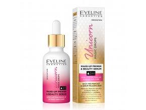 Eveline cosmetics Unicorn Magic drops Vyživující báze pod make-up a pleťové sérum 30 ml | evelio.cz