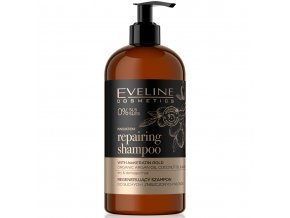 Eveline cosmetics ORGANIC GOLD Regenerační šampon pro suché a zničené vlasy 500 ml | evelio.cz