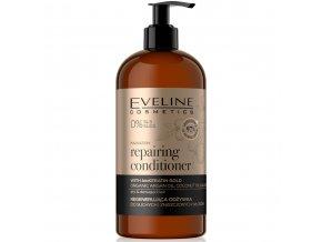 Eveline cosmetics ORGANIC GOLD Regenerační kondicionér pro suché a zničené vlasy 500 ml | evelio.cz