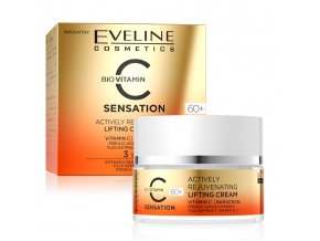 Eveline cosmetics C SENSATION 60+ aktivní omlazující liftingující pleťový krém s vitamínem C 50 ml | evelio.cz
