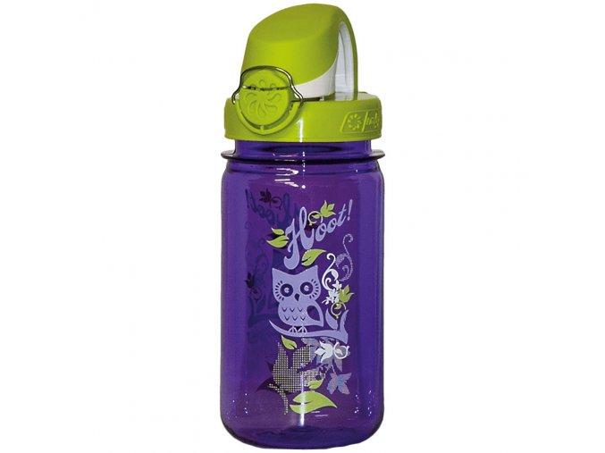 Nalgene LÁHEV purple hoot KIDS OTF 350 ml