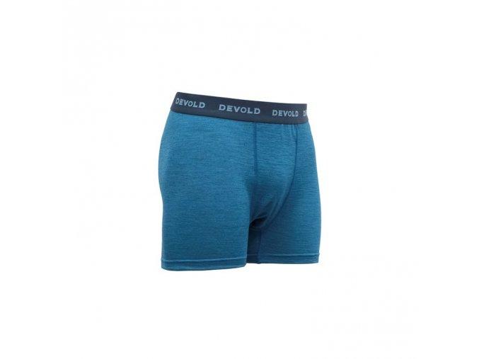 Devold BREEZE pánské merino boxerky blue melange