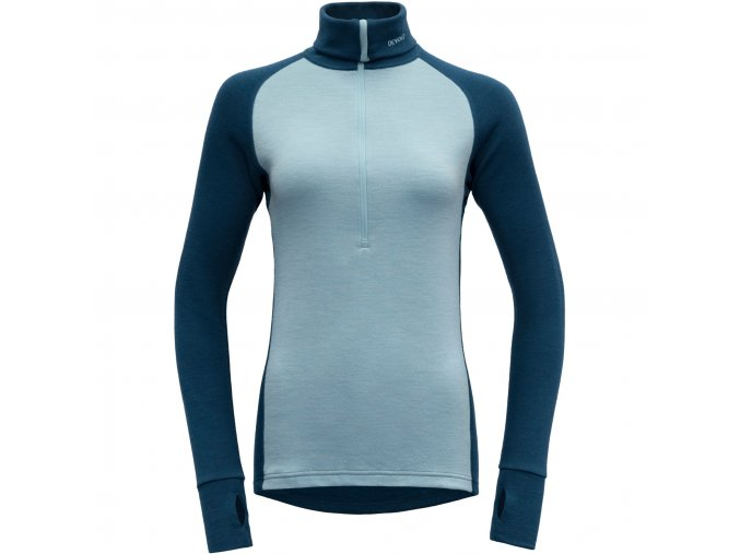 devold expedition woman zip neck flood cameo