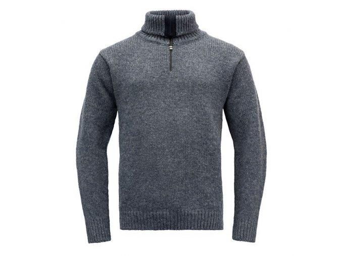 nansen sweater zip neck ombre 1