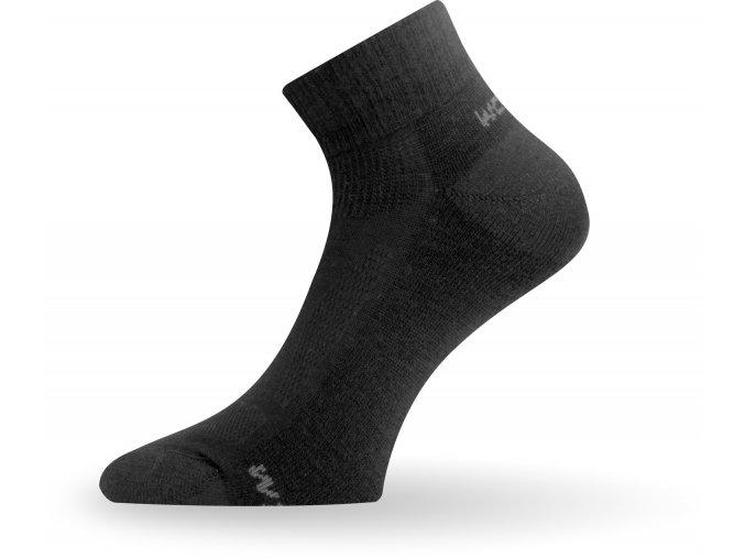 Lasting ponožky z merino vlny WDL černé
