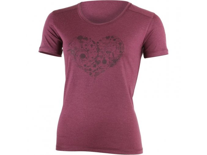 lasting damske merino triko s tiskem livie vinove