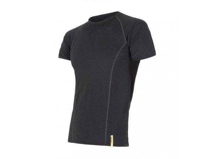 Sensor merino active pánské triko krátký rukáv černé